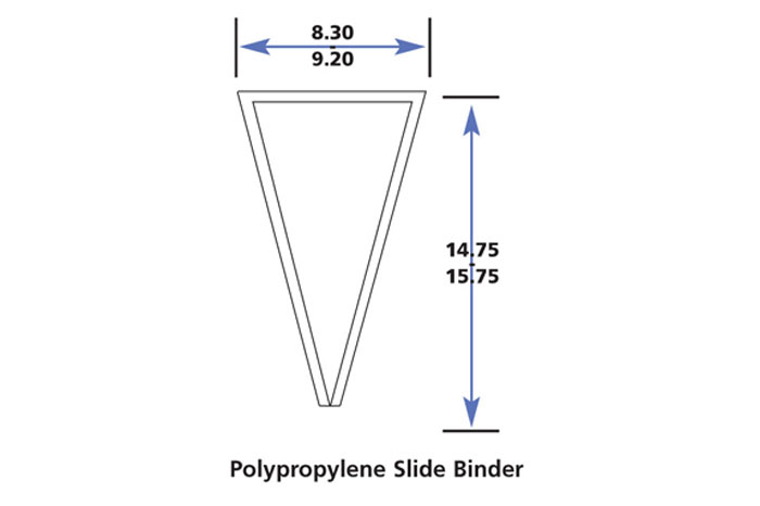 Polypropylene-slide-binder